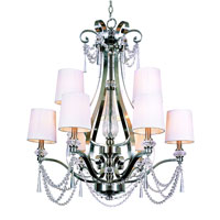 Trans Globe Lighting Modern Meets Traditional 9 Light Chandelier in Brushed Nickel 7879-BN