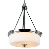 Trans Globe Lighting 7927-BN Richmond 3 Light 20 inch Brushed Nickel Pendant Ceiling Light