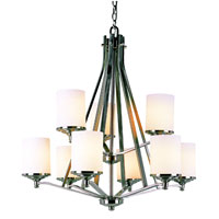 Trans Globe Lighting 7929-BN Nickel Knob 9 Light 30 inch Brushed Nickel Chandelier Ceiling Light