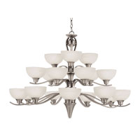Trans Globe Lighting Contemporary 18 Light Chandelier in Brushed Nickel 7938-BN