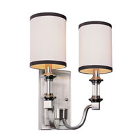 Trans Globe Lighting Modern Meets Traditional 2 Light Wall Sconce in Brushed Nickel 7972-BN
