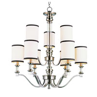 Trans Globe Lighting Modern Meets Traditional 9 Light Chandelier in Brushed Nickel 7979-BN