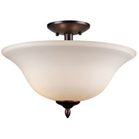 Trans Globe Lighting 8162-1-ROB Glasswood 2 Light 13 inch Rubbed Oil Bronze Semiflush Ceiling Light
