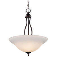 Trans Globe Lighting 8163-1-ROB Glasswood 3 Light 16 inch Rubbed Oil Bronze Pendant Ceiling Light