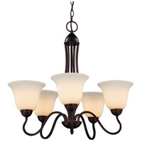 Trans Globe Lighting 8165-1-ROB Glasswood 5 Light 26 inch Rubbed Oil Bronze Chandelier Ceiling Light