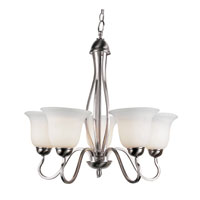 Trans Globe Farmhouse 5 Light Chandelier in Brushed Nickel 8165-BN