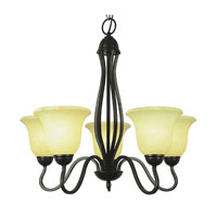 Trans Globe Lighting 8165-ROB Glasswood 5 Light 26 inch Rubbed Oil Bronze Chandelier Ceiling Light