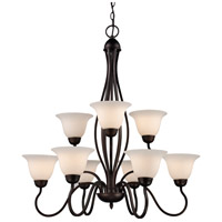 Trans Globe Lighting 8169-1-ROB Glasswood 9 Light 32 inch Rubbed Oil Bronze Chandelier Ceiling Light