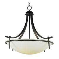 Modern Slim-Line 3 Light 26 inch Rubbed Oil Bronze Pendant Ceiling Light in Frosted
