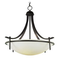 Modern Slim-Line 4 Light 32 inch Rubbed Oil Bronze Pendant Ceiling Light in Frosted