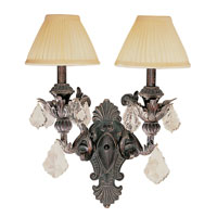 Trans Globe Lighting Crystal Flair 2 Light Wall Sconce in Enriched Iron 8272-EI
