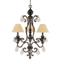 Trans Globe Lighting Crystal Flair 3 Light Chandelier in Enriched Iron 8273-EI