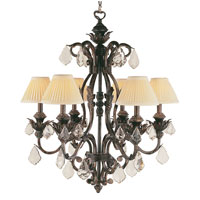 Trans Globe Lighting Crystal Flair 6 Light Chandelier in Enriched Iron 8276-EI