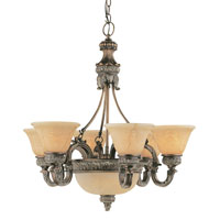 Trans Globe Lighting In The Mediterranean 8 Light Chandelier in Imperial Copper 8527-IC photo thumbnail