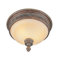 Trans Globe Lighting In The Mediterranean 3 Light Flush Mount in Lincoln Copper 8532-1-LC
