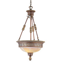 Trans Globe Lighting In The Mediterranean 3 Light Pendant in Lincoln Copper 8533-LC