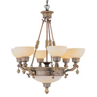 Trans Globe Lighting In The Mediterranean 9 Light Chandelier in Lincoln Copper 8534-LC