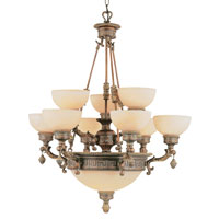 Trans Globe Lighting In The Mediterranean 12 Light Chandelier in Lincoln Copper 8536-LC