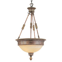 Trans Globe Lighting In The Mediterranean 3 Light Pendant in Lincoln Copper 8539-LC