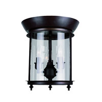 Trans Globe Gothic 3 Light Flush Mount in Rubbed Oil Bronze 8700-ROB
