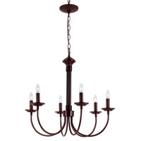 Colonial Candles 6 Light 24 inch Rubbed Oil Bronze Chandelier Ceiling Light