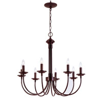 Colonial Candles 8 Light 27 inch Rubbed Oil Bronze Chandelier Ceiling Light