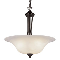 Ribbon Branched 3 Light 20 inch Rubbed Oil Bronze Pendant Ceiling Light
