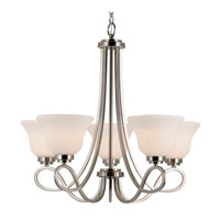 Trans Globe Lighting Contemporary 5 Light Chandelier in Brushed Nickel 9555-BN