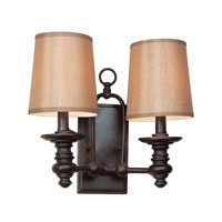 Hancock 2 Light 14 inch Rubbed Oil Bronze Wall Sconce Wall Light