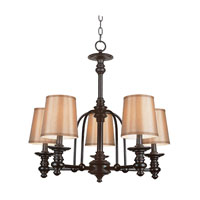 Trans Globe Lighting 9625 Hancock 5 Light 24 inch Rubbed Oil Bronze Chandelier Ceiling Light