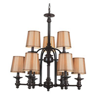 Trans Globe Mission Indoor 9 Light Chandelier in Rubbed Oil Bronze 9629
