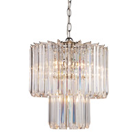 Signature 5 Light 14 inch Polished Chrome Pendant Ceiling Light in Acrylic Clear/Beveled