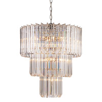 Signature 9 Light 20 inch Polished Chrome Pendant Ceiling Light in Acrylic Clear/Beveled