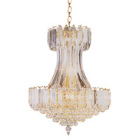 Signature 8 Light 19 inch Polished Brass Chandelier Ceiling Light in Clear Beveled Acrylic tapers