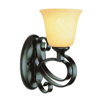 Trans Globe Black Ribbon 1 Light Wall Sconce in Dark Bronze 9911-DBZ