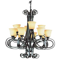 Trans Globe Lighting New Century 12 Light Chandelier in Dark Bronze 9912-DBZ