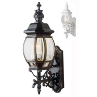 Trans Globe Lighting 4051-WH Francisco 3 Light 25 inch White Outdoor Wall Lantern
