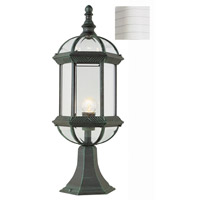 Trans Globe Lighting 4182-WH Wentworth 1 Light 21 inch White Outdoor Postmount Lantern