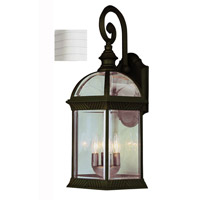 Trans Globe Lighting 44181-WH Botanica 3 Light 19 inch White Outdoor Wall Lantern