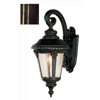 Trans Globe Lighting 5043-BG Signature 1 Light 19 inch Black Gold Outdoor Wall Lantern