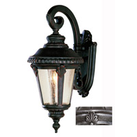 Trans Globe Lighting 5043-SWI Signature 1 Light 19 inch Swedish Iron Outdoor Wall Lantern