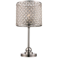 Infusion 21 inch 40 watt Polished Chrome Table Lamp Portable Light