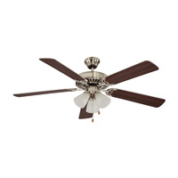 Tempa Breeze 52 inch Brushed Nickel with Silver / Rosewood Reversible Blades Ceiling Fan