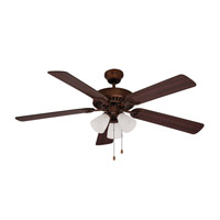 Tempa Breeze 52 inch Rubbed Oil Bronze with Rosewood / Walnut Reversible Blades Ceiling Fan
