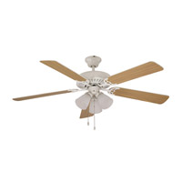 Trans Globe Lighting F-1005-WH Tempa Breeze 52 inch White with Maple / White Reversible Blades Ceiling Fan photo thumbnail