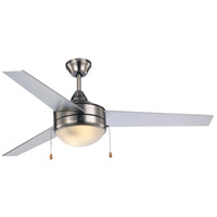 Trans Globe Lighting F-1008-1-BN/SIL Cappleman 52 inch Brushed Nickel and Silver Ceiling Fan