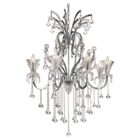 Trans Globe Trumpet Vine 8 Light Chandelier in Polished Chrome HF-8-PC photo thumbnail