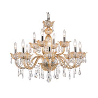 Trans Globe Signature 12 Light Chandelier in Champagne HG-12-CHMP