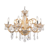 Trans Globe Lighting Versailles 6 Light Chandelier in Champagne HG-6-CHMP