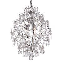 Trans Globe Crystal Elegance 3 Light Pendant in Polished Chrome HH-3-PC